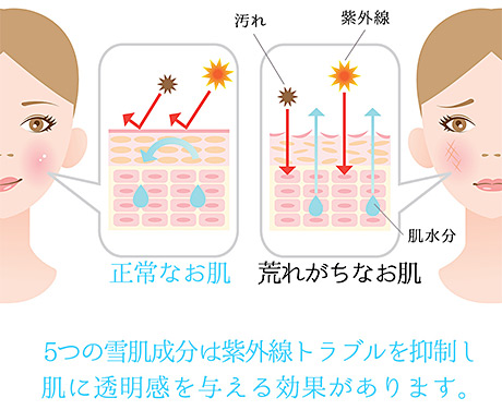 ミエルドアンジュは紫外線トラブルから肌を守ってくれる